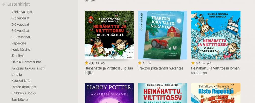 Nextory-lasten-äänikirjat